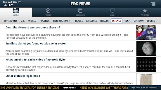FOX News for Google TV - screenshot thumbnail