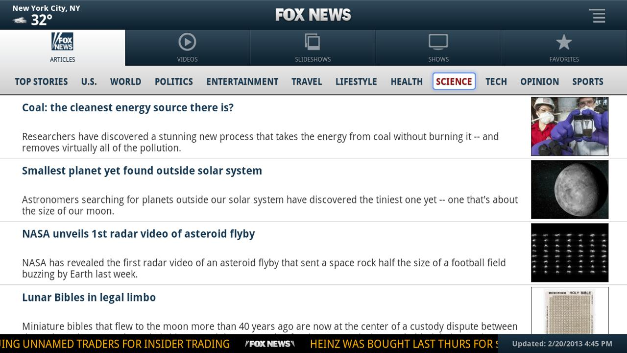 FOX News for Google TV - screenshot
