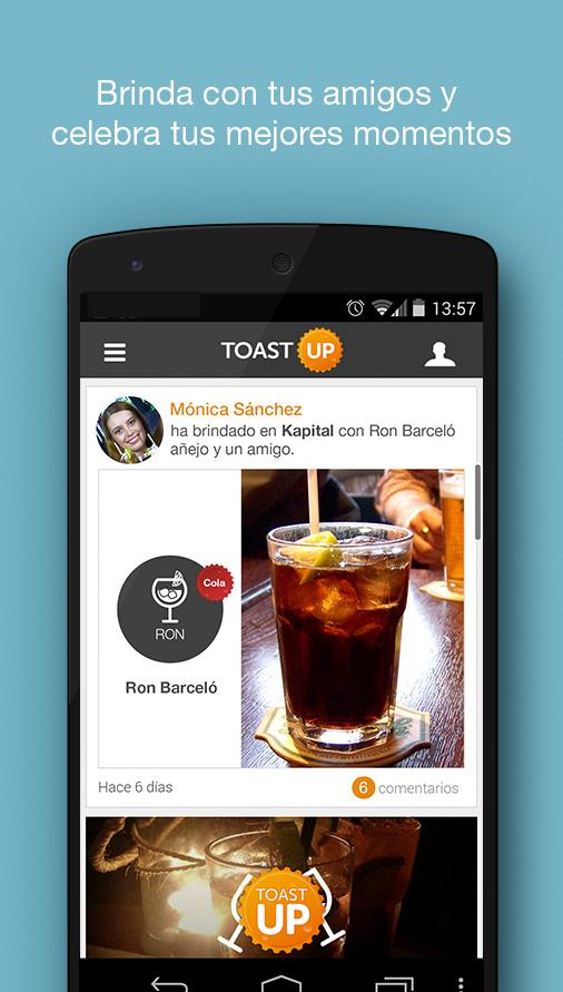 ToastUp, brinda y comparte- screenshot