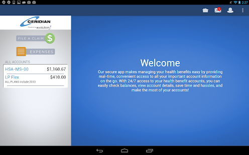 Ceridian Benefits Mobile - screenshot thumbnail
