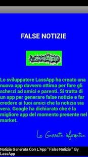 False Notizie - Scherzo Fake- miniatura screenshot