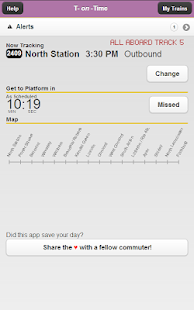 T-on-Time Boston Commuter Rail - screenshot thumbnail