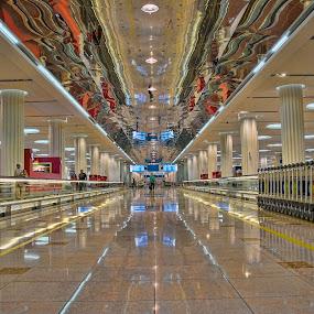 Dubai International Airport by Jigs Crisostomo - Buildings & Architecture Architectural Detail ( #flydubai, #emirates )