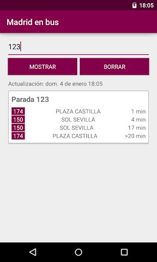 Madrid en bus para Cristina