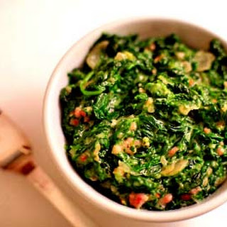 Creamed Spinach with Bacon.