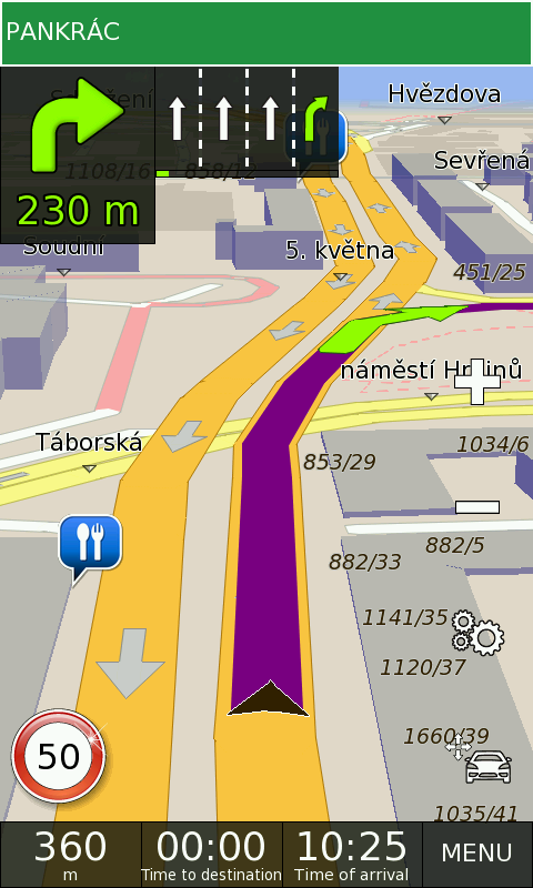 GPS Navigation BE-ON-ROAD - screenshot
