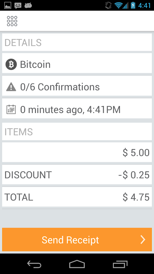 Coinbox: Bitcoin point of sale- screenshot