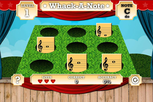 Whack A Note Read Music Note