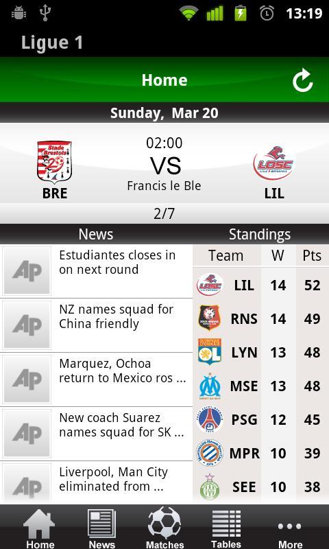 French Ligue 1 2011/12- screenshot