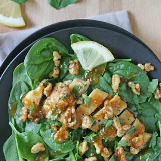Ginger-Garlic Chicken and Walnut Salad