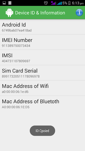 Device ID Info. for Android