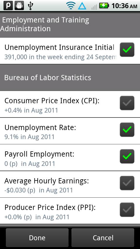 Labor Stats- screenshot