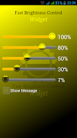 Screenshot of Fast Brightness Control Widget