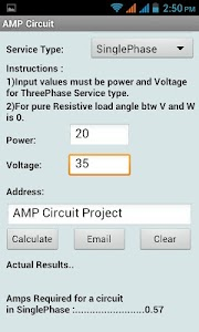AMP Circuit Calculator screenshot 1