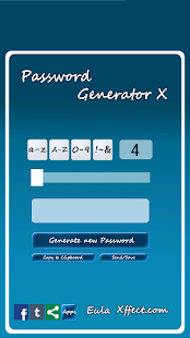 Password Generator X- screenshot thumbnail