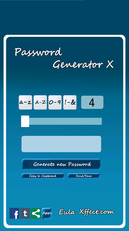 Password Generator X - screenshot