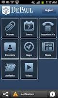 Screenshot of iDePaul