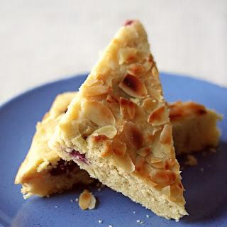 Sour Cherry and Almond Semolina Cake