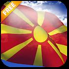 3D Macedonia Flag Live Wallpaper icon