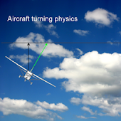 Airplane turning physics demo
