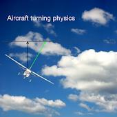 Airplane turning physics demo
