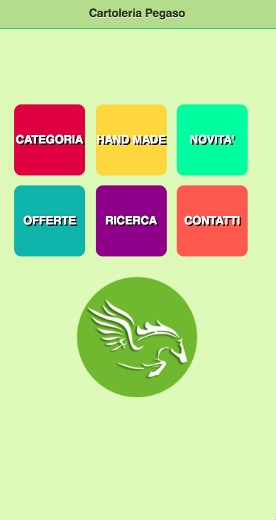 Cartoleria Pegaso App- screenshot