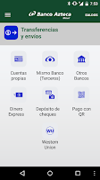 Screenshot of Banco Azteca Móvil