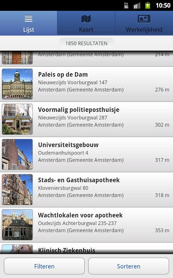 Rijksmonumenten- screenshot