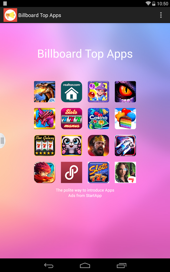 Billboard Top App - Game- screenshot