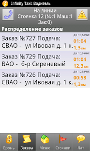 Infinity Taxi: Водитель- screenshot thumbnail