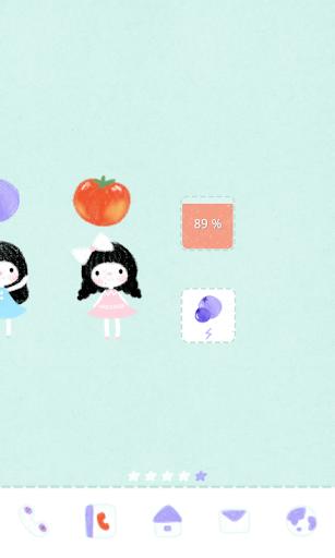 【免費個人化App】봉자 여름과일 도돌런처 테마-APP點子
