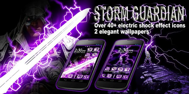 Storm Guardian GO Theme- screenshot thumbnail
