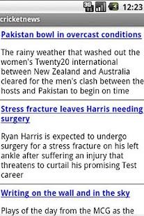 Cricket News - screenshot thumbnail