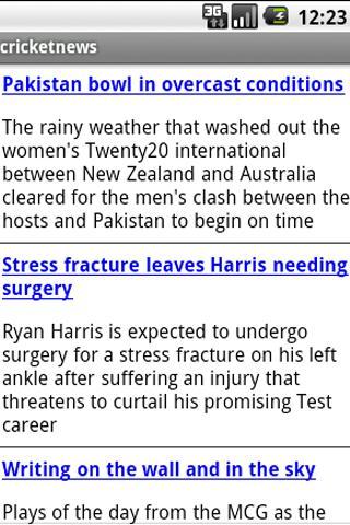 Cricket News - screenshot