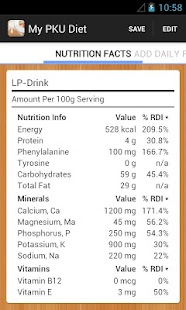PKU Diet Management - screenshot thumbnail