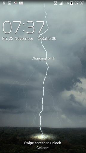 Thunderstrom live wallpaper