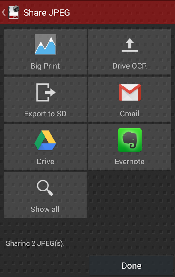 Droid Scan Pro PDF- screenshot