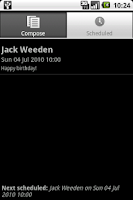 Screenshot of Schedule SMS