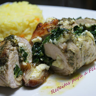 Spinach, Ricotta, and Dates Wrapped in Turkey Cutlets.