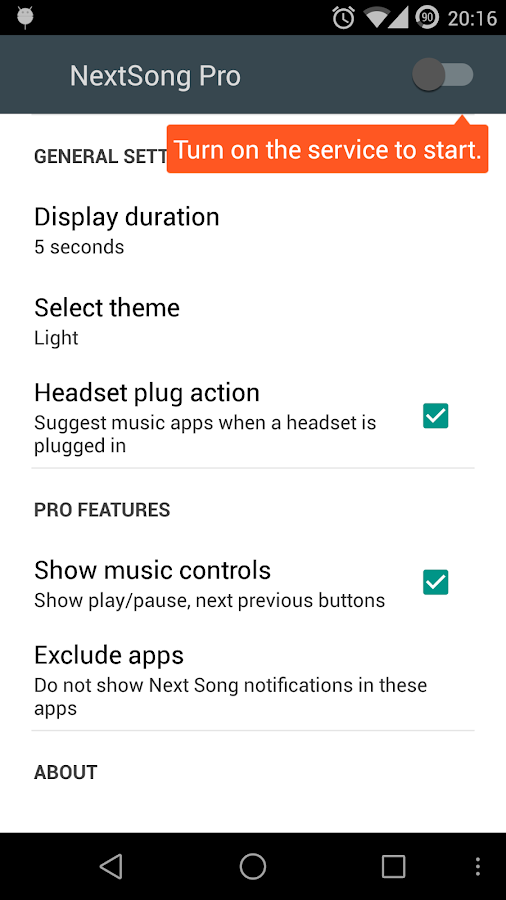 NextSong Pro - Notifications- screenshot