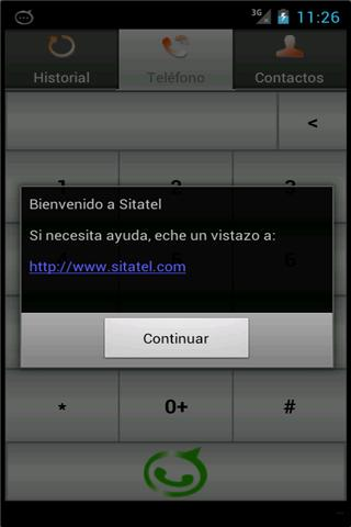 Sitatel Softphone- screenshot