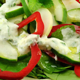 Spicy Avocado-Greek Yogurt Dressing.