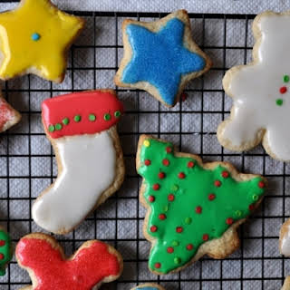 Decorated Holiday Sugar Cookies.