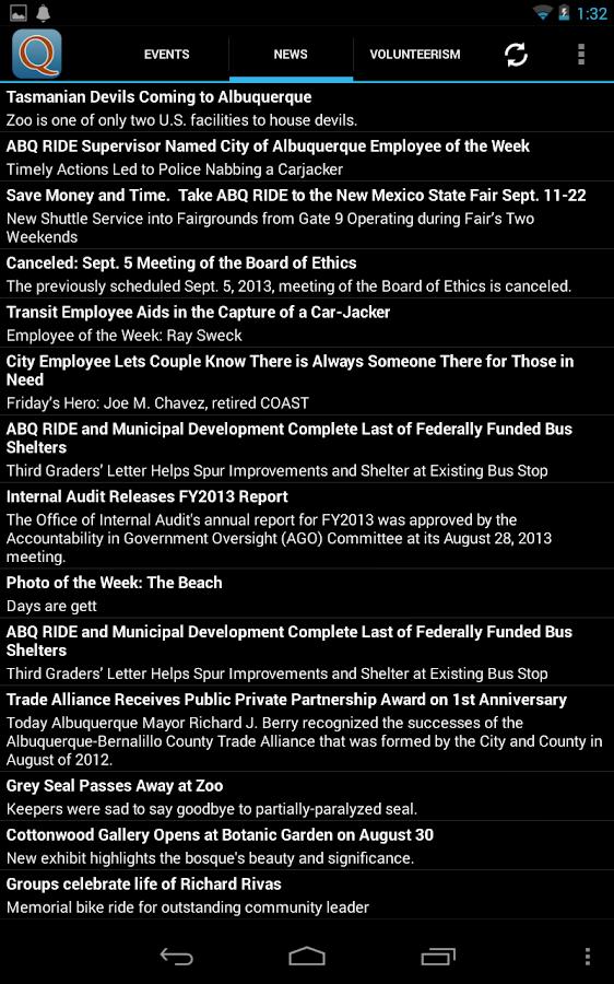 Albuquerque News & Events- screenshot