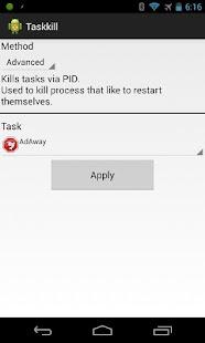 TaskKill Tasker Plugin [Root] - screenshot thumbnail