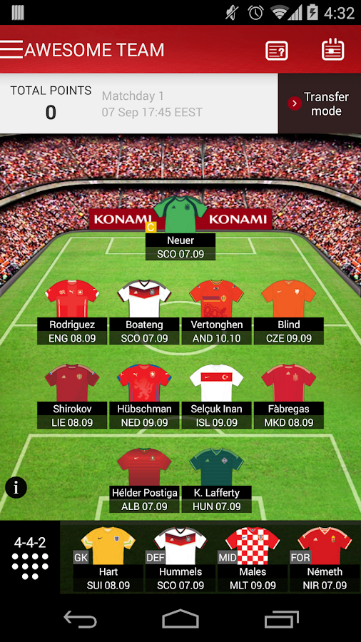 how to make a fantasy football team on the app