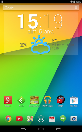 Easy Weather Clock Widget