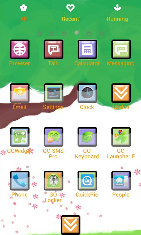 ZSpring Theme GO Launcher EX - screenshot