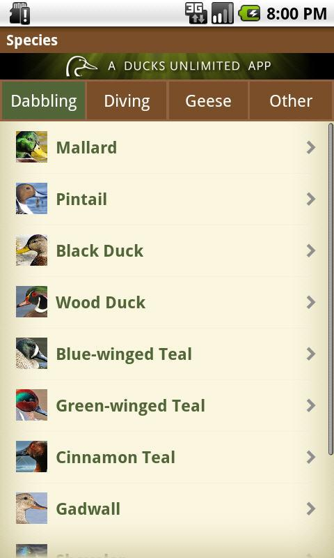 DU Waterfowler's Journal- screenshot
