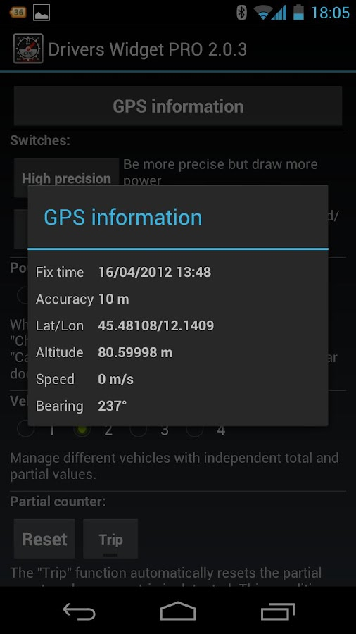 Drivers Widget - Speedometer- screenshot